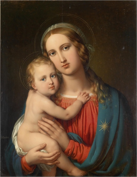JOHANN NEPOMUK ENDER (Vienna 1793-1854) Madonna with Child_768x989