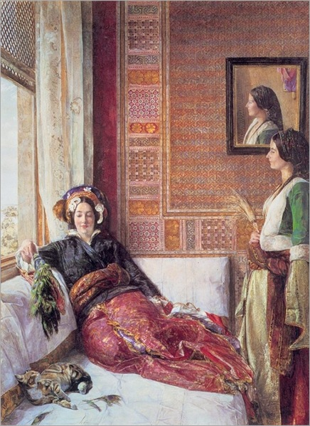 John Frederick Lewis (British Painter, 1805-1876) - Life in the Harem, Constantinople