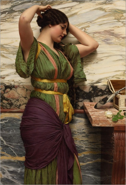 John William Godward (1861-1922) - A fair reflection