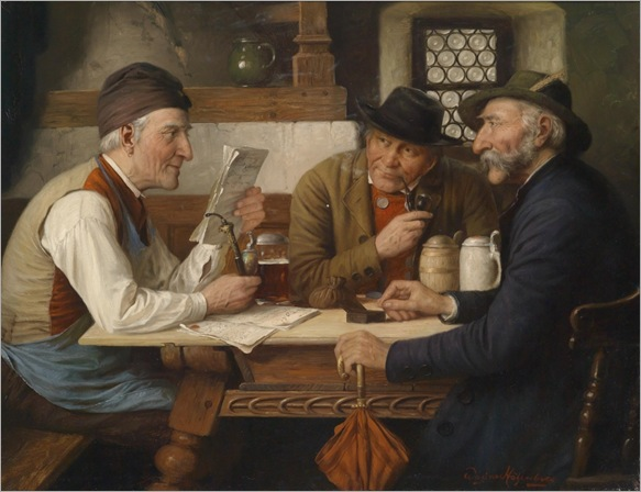 JOSEF WAGNER HOHENBERG (Höhenberg 1870-1937 Munich) Group in the Tavern_1001x768