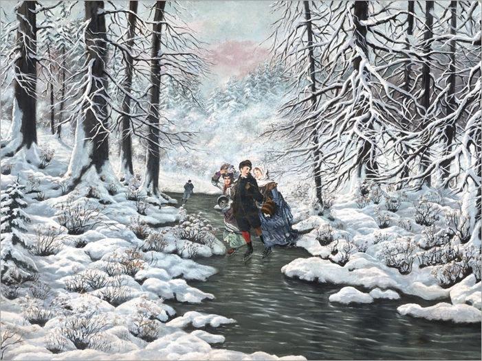 Laszlo Neogrady - A Snow Scene