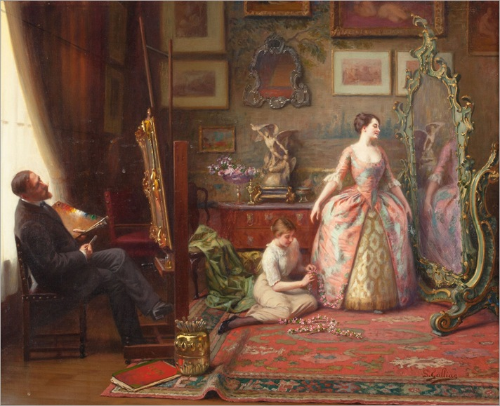 Louis Galliac (1849 - 1934) - The artist's studio