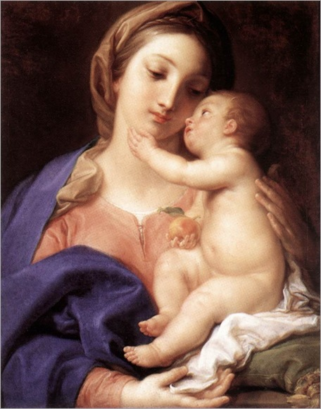 Madonna and Child-pompeo-batoni