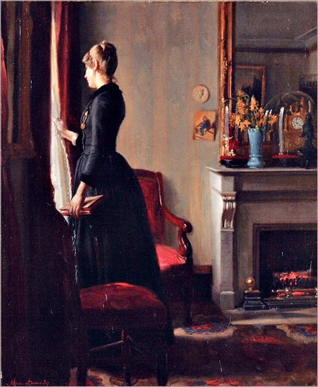 Marie Krøyer in Paris by Michael Peter Ancher, 1889