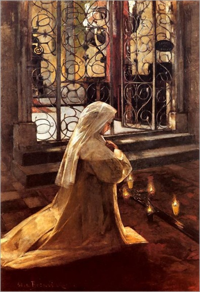 On Good Friday -1890 - Olga Boznanska (polish painter)
