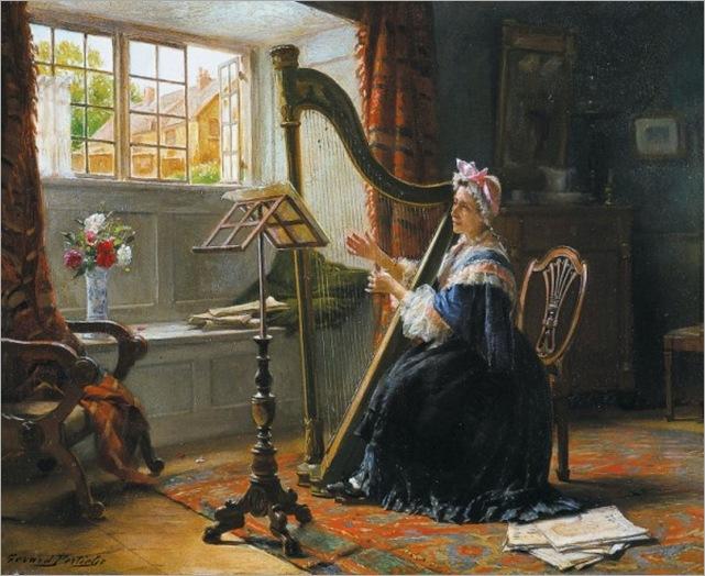 Portielje, Gerard (1856-1929) - La Harpiste, 1903