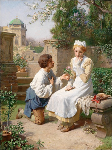 Romantic Scene in the Garden of Belvedere - Julius Victor Berger