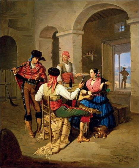 Scene in a Country Inn - Manuel Cabral Aguado Bejarano-1855