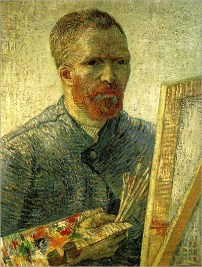 Self-portrait as a painter (1888). Vincent van Gogh (Dutch, Post-Impressionism, 1853–1890)