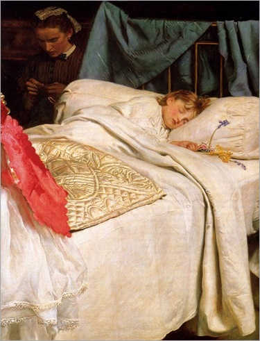 Sleeping - John Everett Millais (english painter)