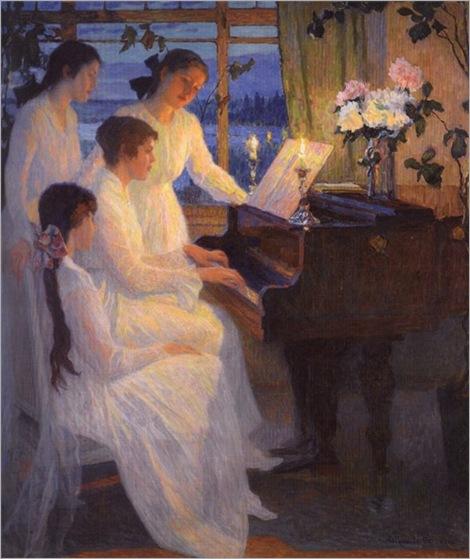Symphony. Nikolaï Petrovich Bogdanov-Belsky (Russian, 1868-1945)