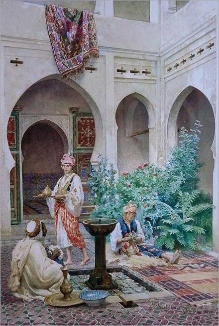 The Courtyard - 1880 - Federico Bartolini (italian painter)
