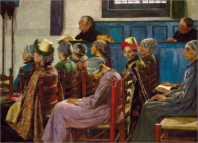 The Sermon - Julius Garibaldi Melchers