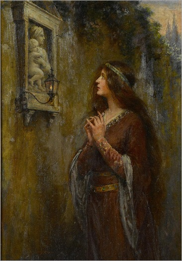 The Shrine -Jennie Augusta Brownscombe (american, 1850 - 1936)