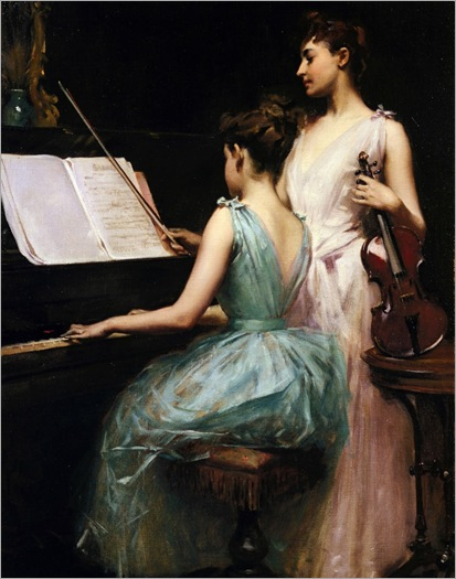 The Sonata (1889). Irving Ramsay Wiles (American, 1861-1948)