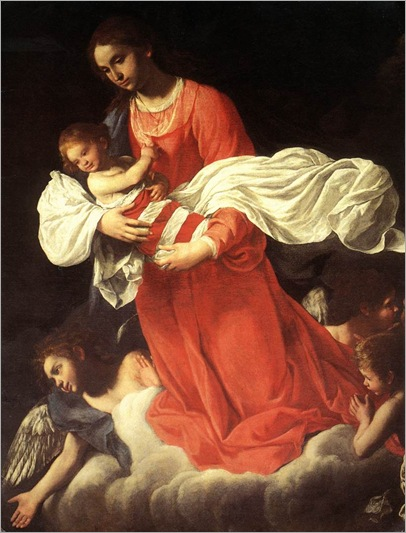 The Virgin and the Child with Angels-GiovanniBaglione
