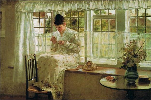 The Window Seat, Francis Davis Millet