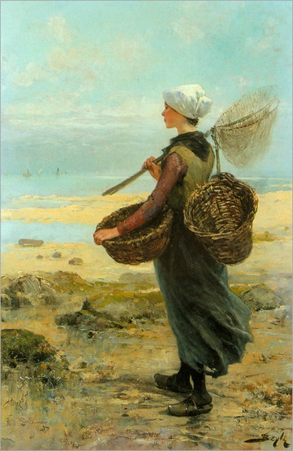 the_young_fisherwoman-Pierre-Marie Beyle-1838-1902