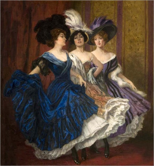Three Dancers (1910). Ludwig von Langenmantel (German,1854-1922)