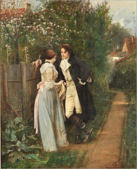 Václav Brožík (1851-1901) - Spring, the fence