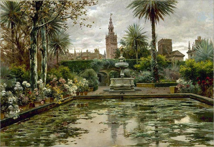 2.A Garden in Seville - Manuel Garcia y Rodriguez
