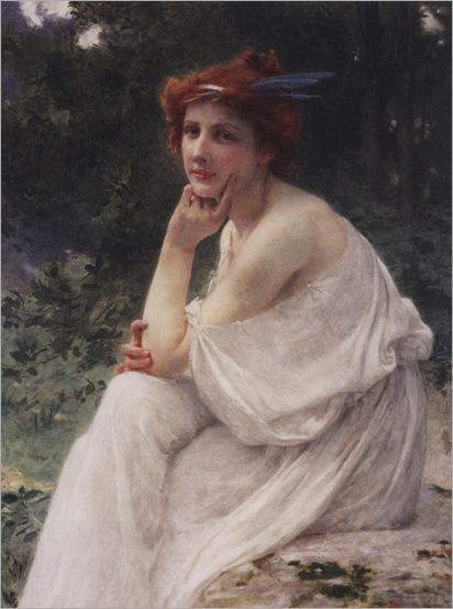 3.guillaume seignac-la muse (french, 1870-1924)