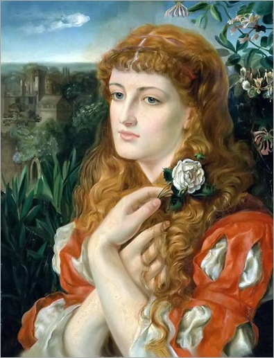 A Lady Holding a Rose by Emma Sandys