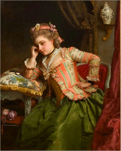 a-pensive-moment-Gustave-Jean-Jacquet (2)