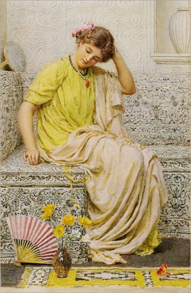 Albert Joseph Moore (1841-1893)- Hairpins