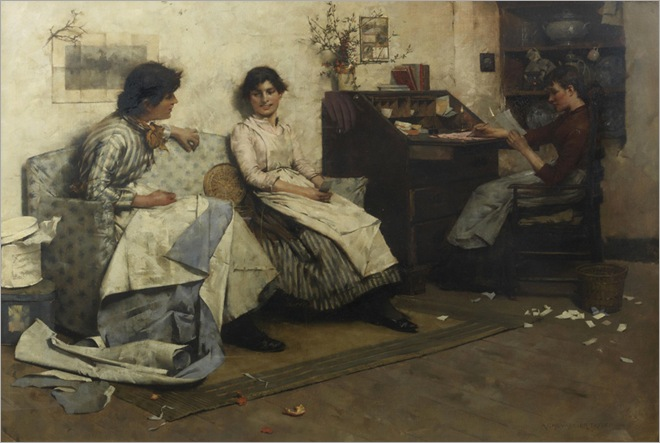 Albert_Chevallier_Tayler's_The_council_of_three_(Bonhams)