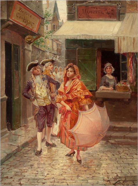 Alonzo Perez ~ Parisian gallantry, 1833