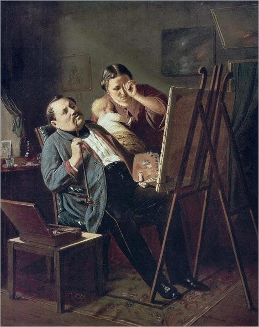 Amateur (1862). Vasily Perov (Russian, Realism, 1833-1882)