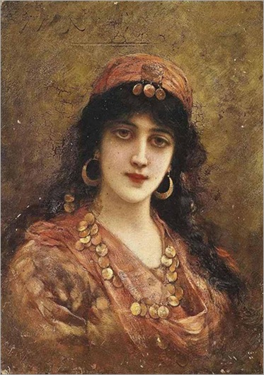 an eastern beauty-Emile Eisman-Semenowsky
