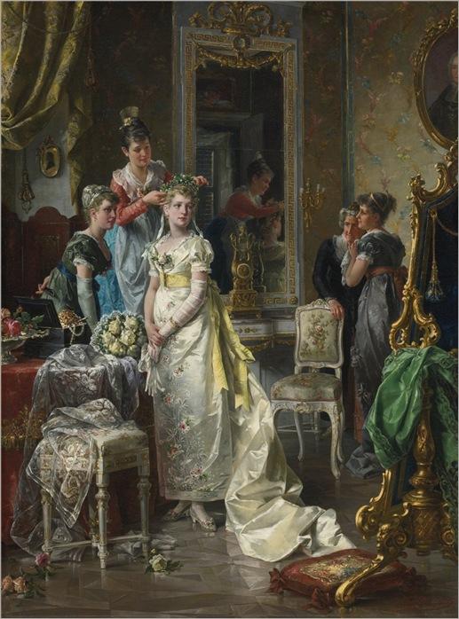 Сarl Herpfer (1836-1897) Dressing of bride