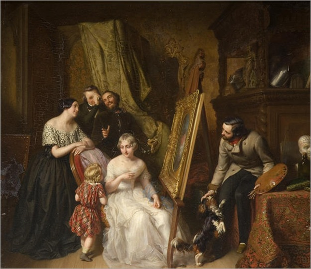 Baudin, Narcisse (Belgian artist, 1820 - 1890)_the portrait