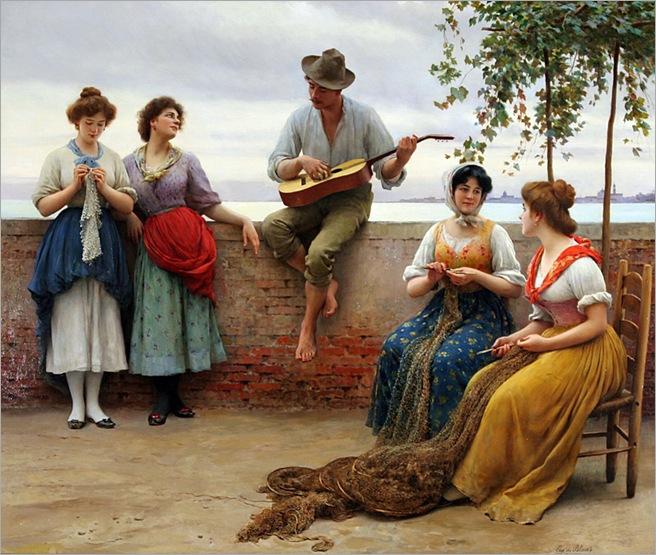 Blaas_Eugene_de_The_Serenade_1910_