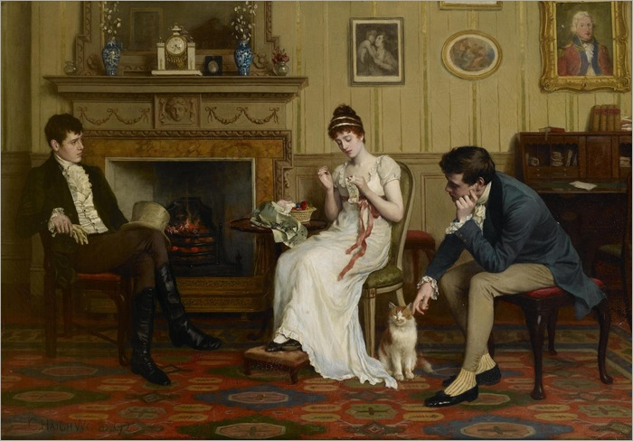 Charles Haigh Wood (english, 1854-1927)- The Patient Competitors