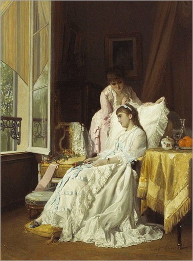 Charles Louis Baugniet (1814-1886)-The convalescent-1880