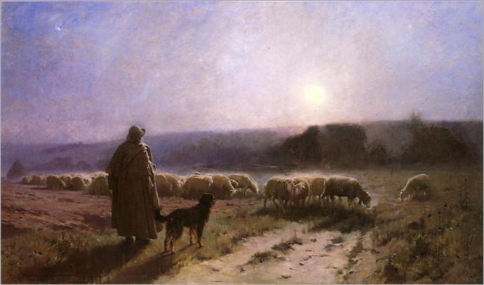 Charles Sprague Pearce - Evening-1889