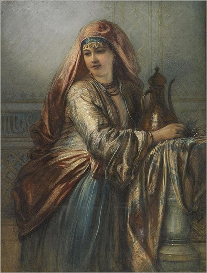 Egron Sillif Lundgren - Palace Interior with Oriental Woman