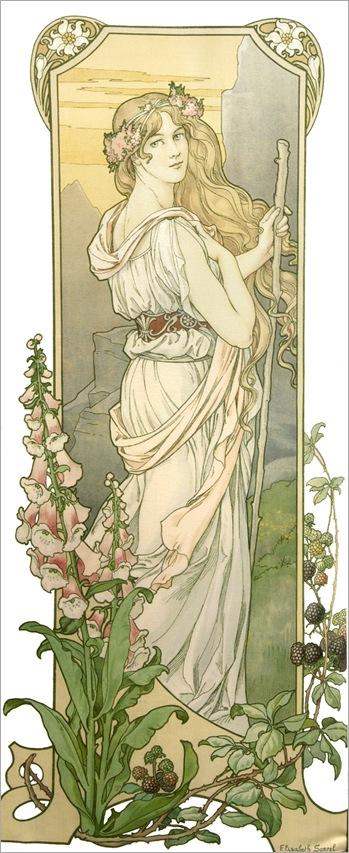 Elisabeth Sonrel (1874-1953) - Fleurs des Montagne