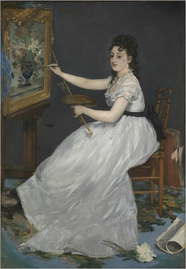 Eva Gonzalès (1870). Edouard Manet (French, 1832-1883). Oil on canvas. The National Gallery, London