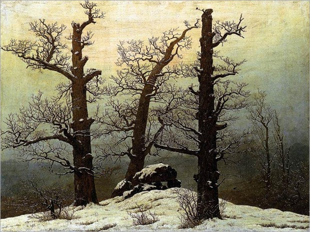 Friedrich Caspar David - Dolmen in the Snow