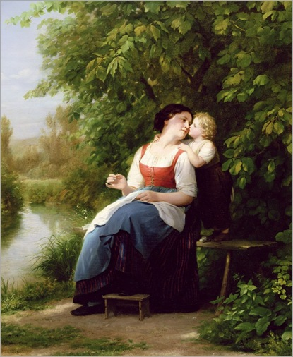 fritz-zuber-buhler-mother-and-son