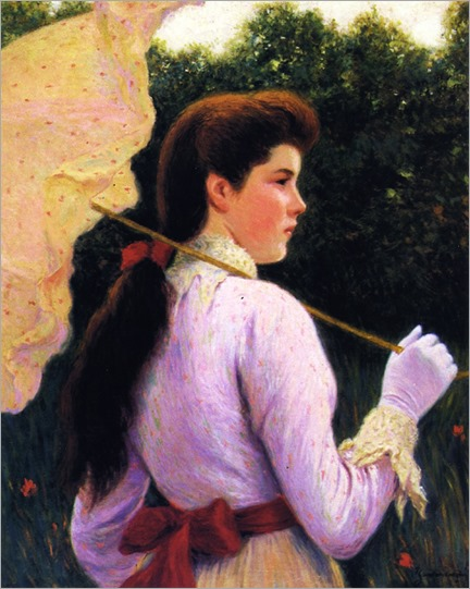 Girl with Umbrella-Federico-Zandomeneghi
