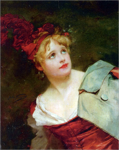 Goupil_Jules_Adolphe_A_Lady_Wearing_Crimson_Hat
