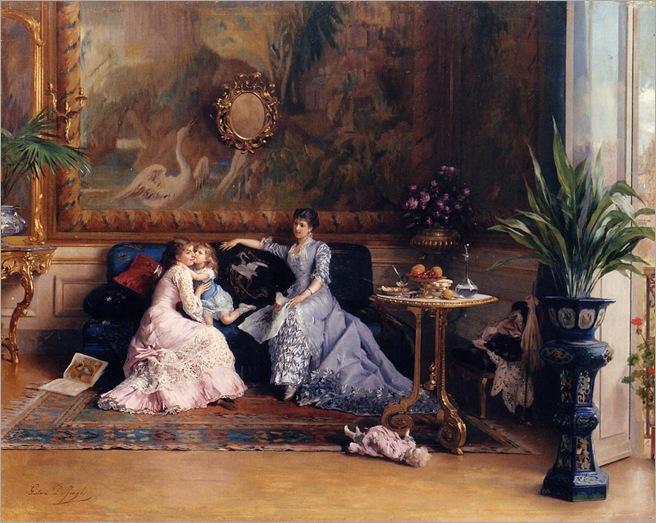 Gustave_Léonhard_de_Jonghe_-_The_Afternoon_Visit (belgium, 1829-1893)