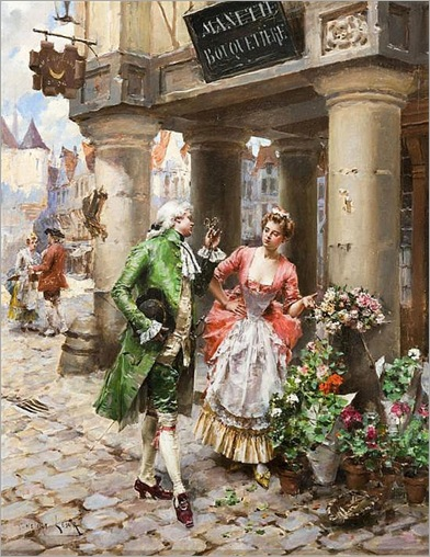 Henri-Victor-Lesur(Roubaix,France,1863-1900)-the-flower-vendor
