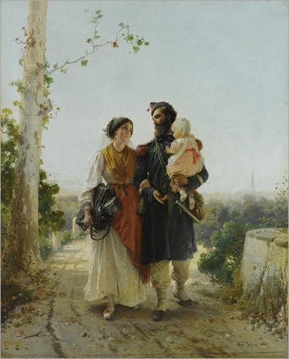 il ritorno dal campo - Girolamo Induno