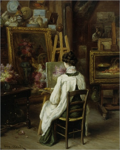 In the Artist's Studio - Eugene Claude (french painter)